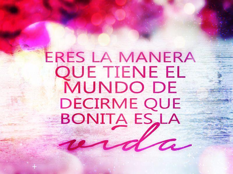 Frases De Amor Bonitas Y Románticas Con Imágenes Para: Gracias Por Ensearme A Amar Y Ser Amada Love Frases T